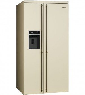 Smeg SBS8004PO amerikaner køleskab - MadMaskiner