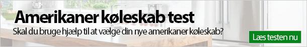 Amerikaner køleskab test banner