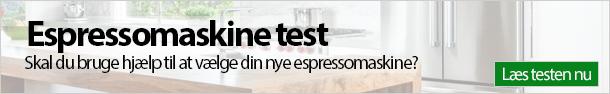 Espressomaskine test banner
