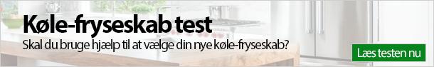 Køle-fryseskab test banner