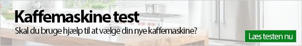 Kaffemaskine test banner