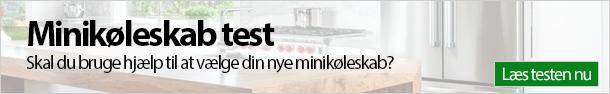 Minikøleskab test banner