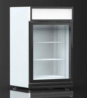 Køleskab med-glaslåge