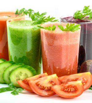 Grøntsager og friskpresset juice
