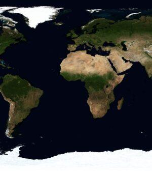Kort over jorden